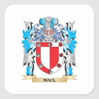 Maul Coat of Arms - Family Crest Square Sticker