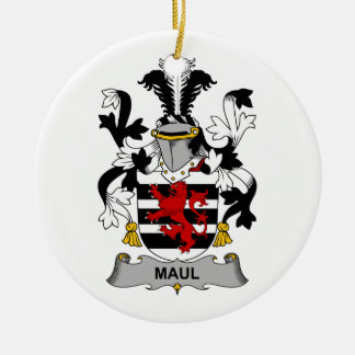 Maul Family Crest Double-Sided Ceramic Round Christmas Ornament