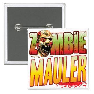 Mauler Zombie Head 2 Inch Square Button