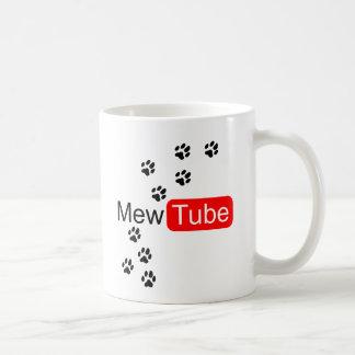 maúlla la taza del amante del gato del tubo