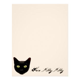 Maullido, aquí papel con membrete del gatito del g membretes personalizados