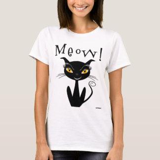 ¡Maullido caprichoso del gato negro! Playera