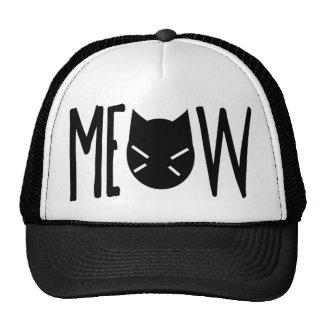 Maullido - cita con la cabeza de un gato gorra