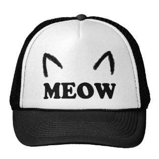 Maullido con los oídos de gato gorras de camionero