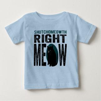 Maullido correcto de ShutchoMEOWth - gato Playera De Bebé