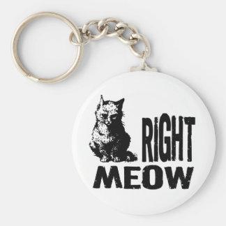 ¡MAULLIDO correcto! Gatito malvado divertido Llavero Redondo Tipo Pin