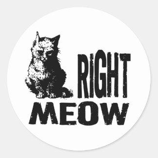 ¡MAULLIDO correcto! Gatito malvado divertido Pegatina Redonda