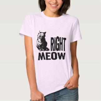 ¡MAULLIDO correcto! Gatito malvado divertido Remeras