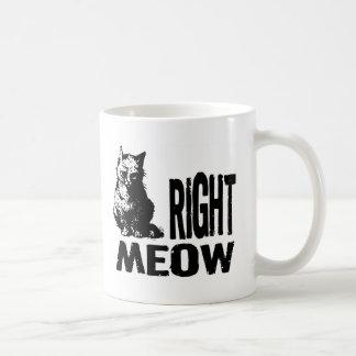 ¡MAULLIDO correcto! Gatito malvado divertido Taza Básica Blanca