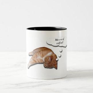 Maullido de la taza de café