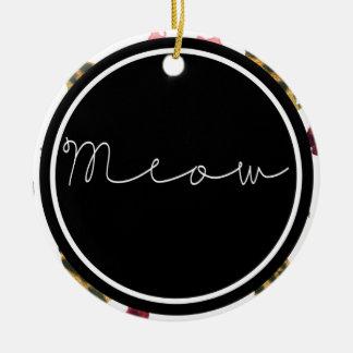 Maullido de los gatos ornamento de navidad