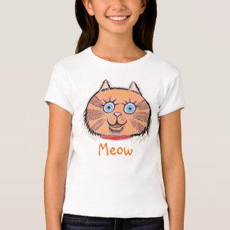 Maullido del gato del gatito playera