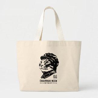 Maullido del presidente - bolso de la propaganda d bolsa tela grande