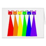 Maullidos del arco iris felicitacion