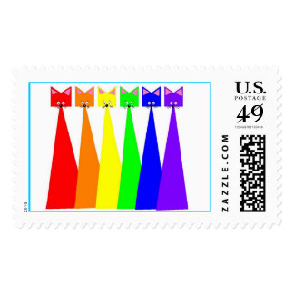 Maullidos del arco iris sello postal