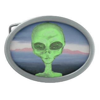 Mauna Kea Alien Oval Belt Buckle