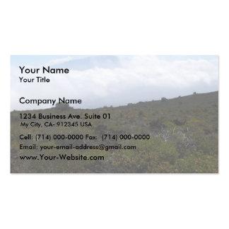 Mauna Loa From The Summit Of Hualalai Volcano Kon Business Card Template