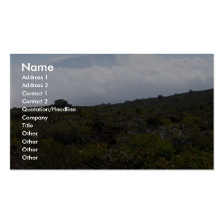 Mauna Loa From The Summit Of Hualalai Volcano Kon Business Cards