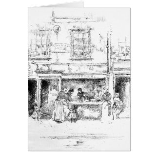 Maunder's Fish Shop Chelsea 1890 Card