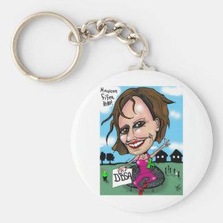 Maureen Fifer Basic Round Button Keychain