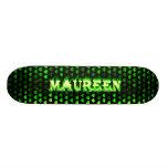 Maureen green fire Skatersollie skateboard