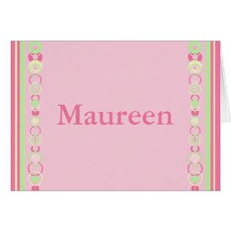 Maureen Modern Circles Custom Name Card