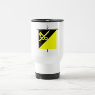 Mauren Armorial Banner on Crossbar 15 Oz Stainless Steel Travel Mug