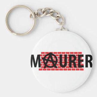 Maurer text icon basic round button keychain
