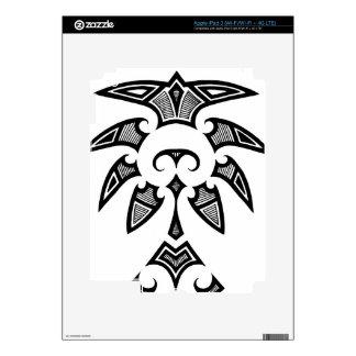 Mauri tribal tattoo with koru patterns iPad 3 decal