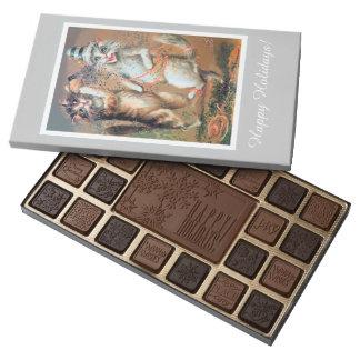 Maurice Boulanger Happy Holidays Cat Chocolate Box