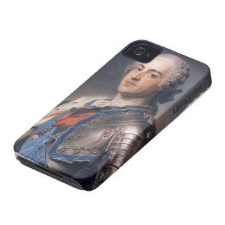 Maurice de La Tour- Portrait of King Louis XV Case-Mate iPhone 4 Case