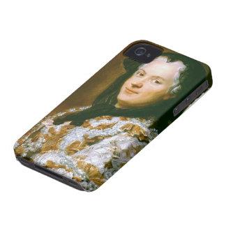 Maurice de La Tour- Portrait of Marie Leszczynska iPhone 4 Cases