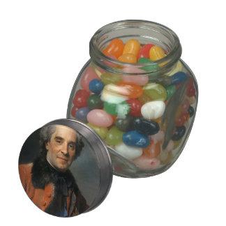 Maurice de La Tour- Portrait of Maurice of Saxony Glass Candy Jar
