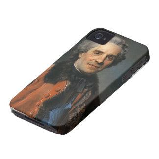 Maurice de La Tour- Portrait of Maurice of Saxony iPhone 4 Case-Mate Case