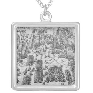 Maurice defeats Austrians at Battle of Nieuport Silver Plated Necklace