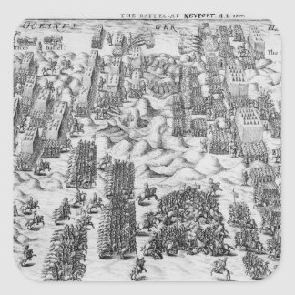 Maurice defeats Austrians at Battle of Nieuport Square Sticker