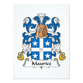 Maurice Family Crest 6.5x8.75 Paper Invitation Card