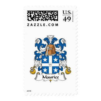 Maurice Family Crest Postage Stamps