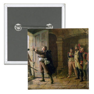 Maurice Gigost d'Elbee  Protecting 2 Inch Square Button