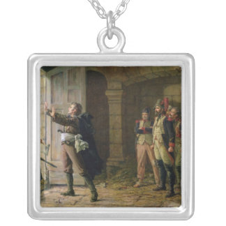 Maurice Gigost d'Elbee  Protecting Silver Plated Necklace