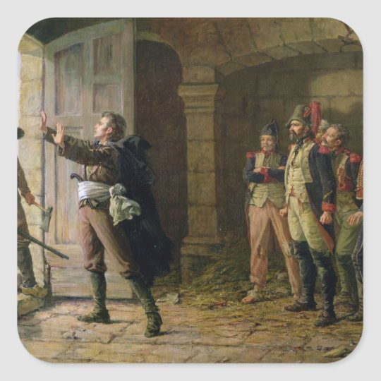 Maurice Gigost d'Elbee  Protecting Square Sticker