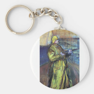 Maurice Joyant at the Bay Somme - Toulouse-Lautrec Keychain