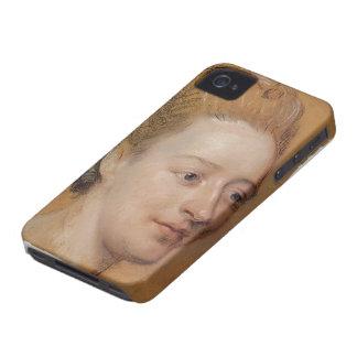 Maurice La Tour- Portrait of Isabelle de Charriere Case-Mate iPhone 4 Cases