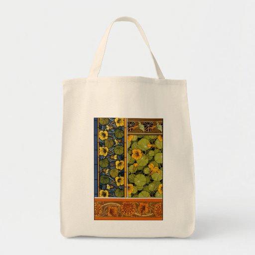 Maurice Pillard ( dit Verneuil ) Floral Art Nouvea Grocery Tote Bag