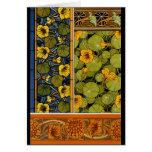 Maurice Pillard ( dit Verneuil ) Floral Art Nouvea Greeting Card