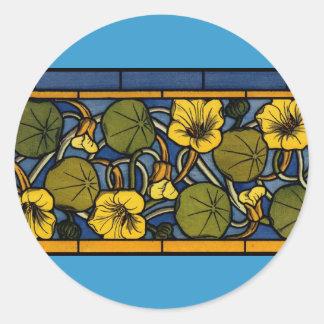 Maurice Pillard ( dit Verneuil ) Floral Art Nouvea Classic Round Sticker