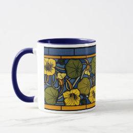 Maurice Pillard ( dit Verneuil ) Floral Art Nouvea Mug