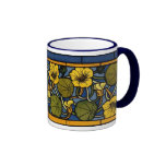 Maurice Pillard ( dit Verneuil ) Floral Art Nouvea Coffee Mugs