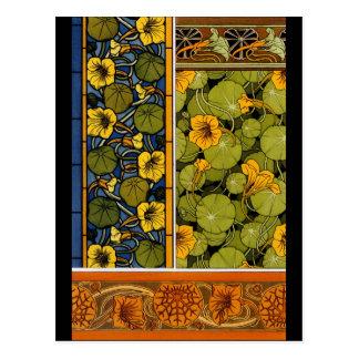 Maurice Pillard ( dit Verneuil ) Floral Art Nouvea Postcard