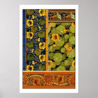 Maurice Pillard ( dit Verneuil ) Floral Art Nouvea Poster